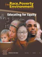 Front Cover Educating for Equity Volume 14-2, Race Poverty and the Environment