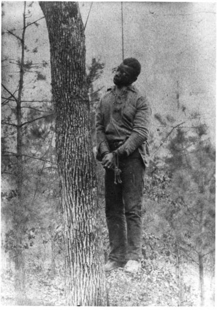 George Meadows was lynched in Jefferson County, Alabama Photograph by L. Horgan, Jr., 1889.