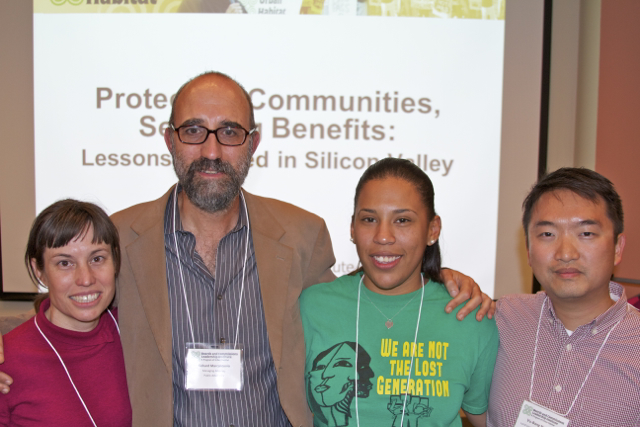 From left to right, Evelyn Stivers, Richard Marcantonio, Annie Loya, and Vu-Bang Nguyen at the BCLI Issues Advocates Speakers