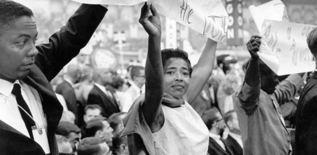 Victoria Jackson Gray Adams, 1964 Democractic National Convention. ©1964 George Ballis/Center for Documentary Expression & Art