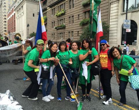 Domestic Worker contingent at the Climate March © 2014 Preeti Shekar