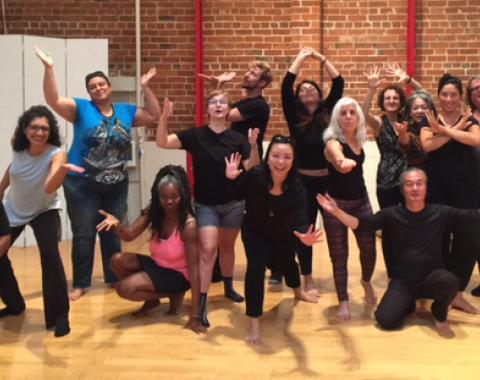 Participants in a Collaborative Liberation Arts Workshop.  ©2017 Malia Valentin