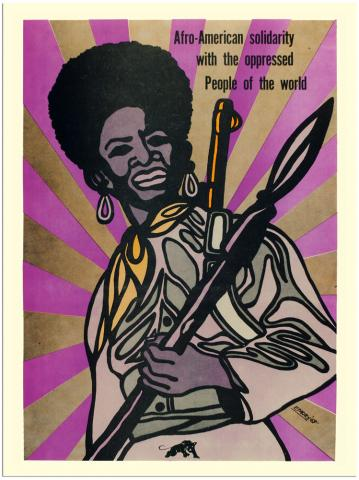1969: The Black Panthers promoted gender equality, and many women were members of the movement © Emory Douglas/PR