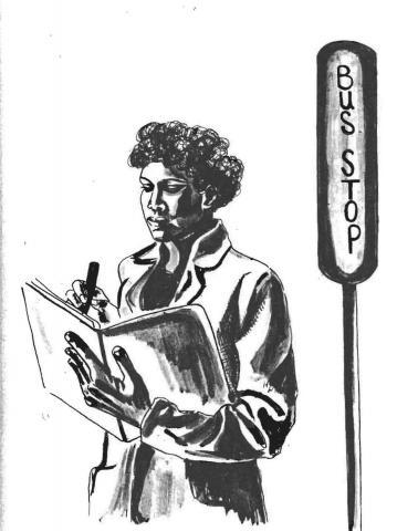"Illustration from Gloria Anzaldúa's ""Speaking in Tongues: A Letter to Third World Women Writers"" from This Bridge Called My Back: Writings by Radical Women of Color."