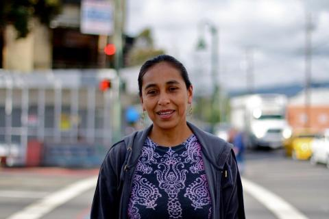 "Lupe Zamuldio migrated to the United States from Mexico in 2001.  ""The first job that I was offered was working as a full-time nanny, housekeeper and cook for a family for $100 a month,"" Lupe says. ""This seemed very unreasonable to me, and I refused the offer. I ended up working at a panaderia (a bakery) as a cook and cleaner for a starting hourly wage of $6 an hour."""